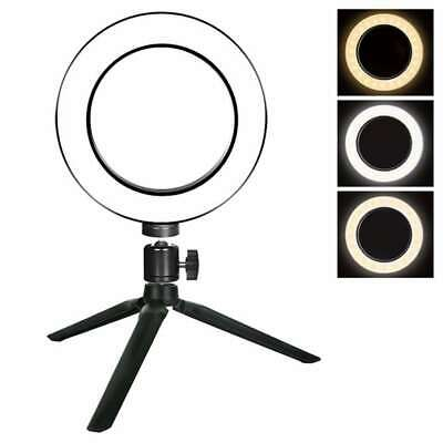 LED Ring Light Photo Video Makeup Dimmable Lamp Tripod Stand Selfie Camera Phone