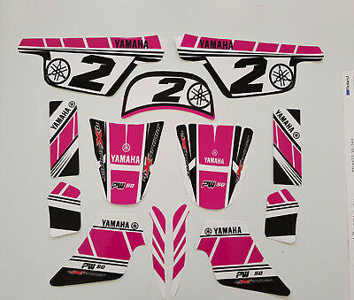 Autocollant kit deco moto cross pour Yamaha PW50 PW 50 GIRLY Qualité Standard