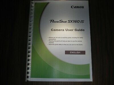 ~PRINTED~ Canon Powershot Sx160 IS  User guide Instruction manual  A4 or A5