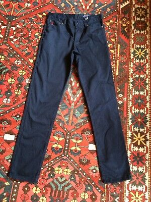 RALPH LAUREN POLO Dark Blue Smart Trousers/ Jeans VGC - 28W 30L