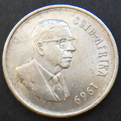 South Africa 1969 1 Rand Coin .800 Silver 32.7 Mm Diam Suid Afrika   Lot Ref 013