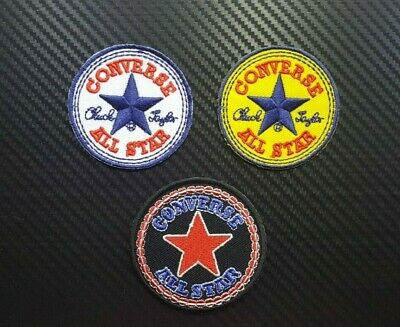 11e34a737078 CONVERSE Embroidered Sew Iron Patch LOGO EMBLEM BRAND ALL STAR SPORTS SHOES  CAP