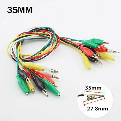 1/10X 35mm Electric Test Jumper Wire Crocodile Clips Roach Alligator Clips Leads