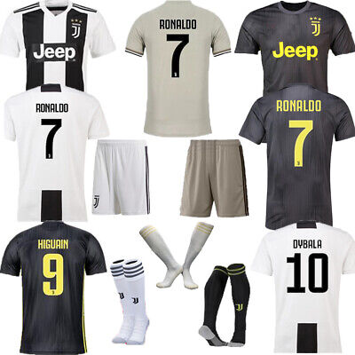 timeless design 68349 8e37b 2019 JUVENTUS FOOTBALL Kits Soccer Jersey Short Sleeve Adult Suit +Socks M  L XL
