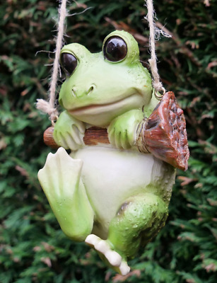 Hanging Frog Toad Garden Tree Ornament Decoration