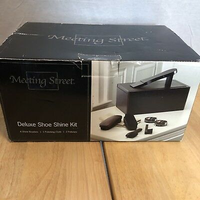 NEW  Meeting Street Deluxe Shoe Shine Kit  Very Nice #0195