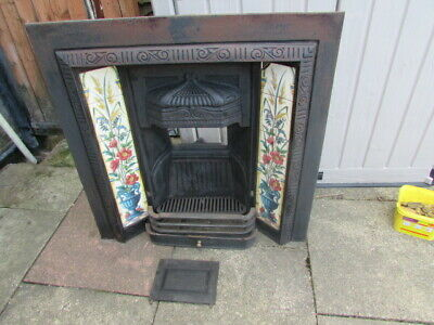 1930s cast iron Tiled fireplace