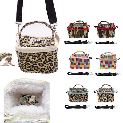 Breathable Pet Small Animal Carrier Hamster Travel Bag Geril Outdoor Cotton Bag
