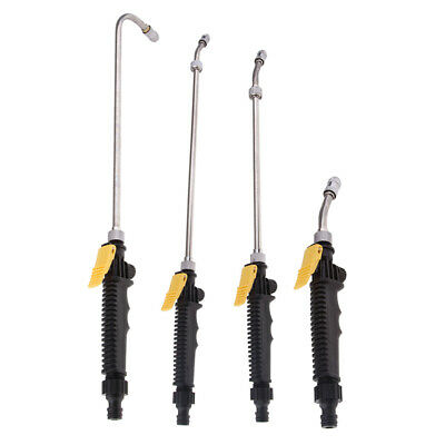 4x High Pressure Power Washer Water Spray Gun Nozzle Wand Attachment 10-45cm