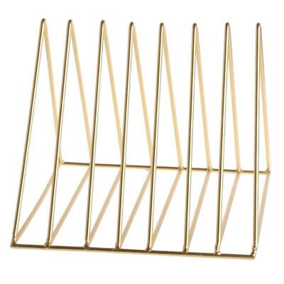 Metal Desk Book Holder Modern Minimalist Bookshelf for Home Office Gold