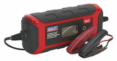 Sealey SMC13 Battery Charger Compact Auto Maintenance 4A - 9-Cycle 6/12V