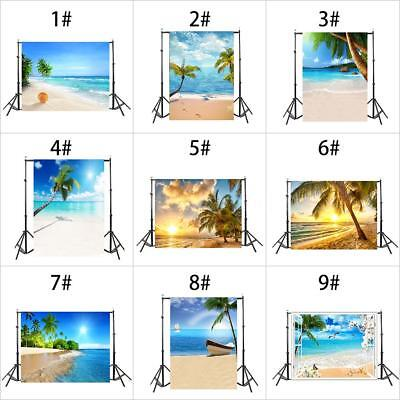 1.5*0.9M Summer Beach 3D Photography Background Studio Photo Backdrop Props P7F5