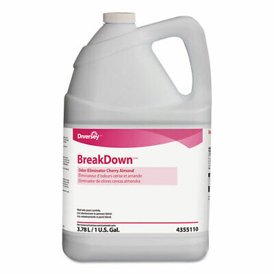 Breakdown Odor Eliminator, Cherry Almond Scent, Liquid, 1 gal Bottle, 4/Carton