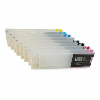 8pcs/set 300ml Epson Stylus Pro 4880 Refill Ink Cartridges with 4 Funnels