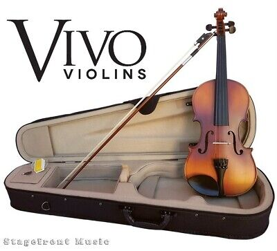 Vivo Neo 3/4 Size Student Violin Package Solid Top Outfit Pro Setup Included
