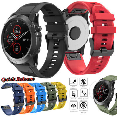 For Garmin Fenix 3/3 HR/5X PLUS Replacement Silicone Wrist Watch Band Strap 26mm