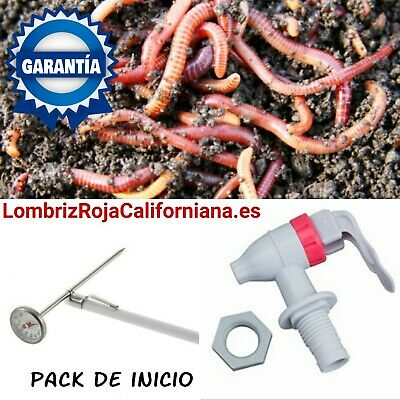 "Lombrices Rojas Californiana"" Pack Inicio"""