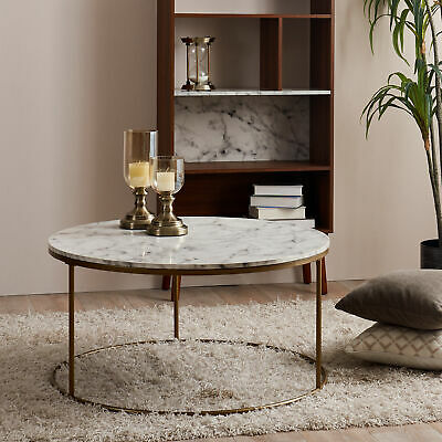 Sold Out Versanora Marmo Round Coffee Table Faux Marble