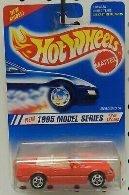 New Red Mercedes Sl 2 342 Convertible 1995 95 1St Edition Hot Wheels