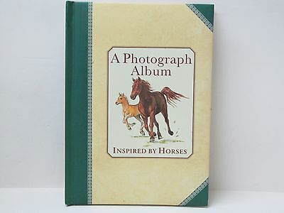 Horse Photograph Album Quilted Cover Card Stock Pages & Oval Photo Frames 2000