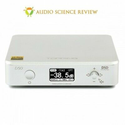 TOPPING D50 ES9038Q2M *2 32Bit/768Khz DSD512 MINI HIFI AUDIO