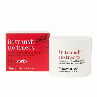 Thisworks In Transit No Traces Infused Rosewater & Mint 60 Pads Makeup Remover