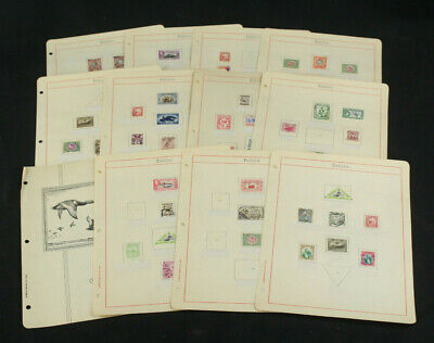 Interesting WW Stamp Collection Lot on Pages All Depicting Birds Mint & Used