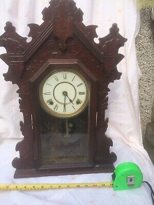 Vintage gingerbread clock. Seth Thomas Clock Co. For Repair.