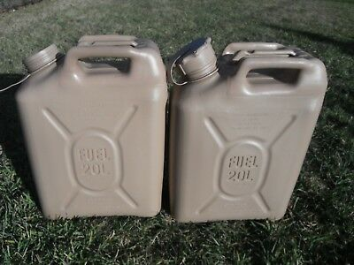 2 SCEPTER Desert Tan Jerry Gas Cans Diesel Fuel Military MFC 5 gal 20L JEEP HUMV