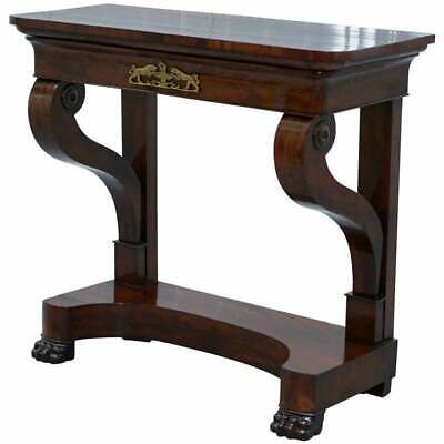 vRESTORED ORIGINAL STAMPED JAMES WINTER & SONS CIRCA 1840 MAHOGANY CONSOLE TABLE