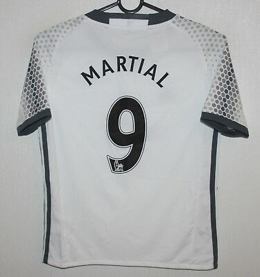 Manchester United third shirt 16/17 #9 Martial Adidas BNWT Size KIDS S
