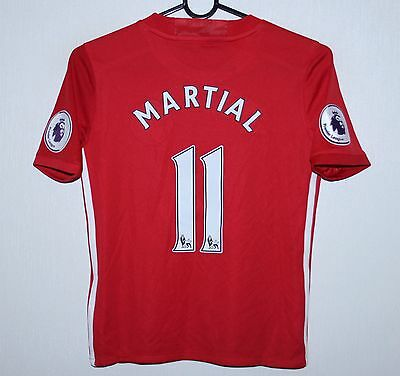 Manchester United home shirt 16/17 #11 Martial Adidas BNWT Size KIDS S