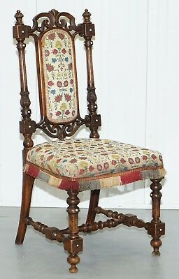 Early Georgian Circa 1800 Single Chair Highly Carved And Detailing Walnut