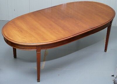 Rrp £3800 Grange Made France Cherry Wood Extending Dining Table Seats 6 8 10 12
