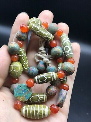 Wonderful Vintage Agte Old Near Eastern Tourquise Stones & Differnet Beads