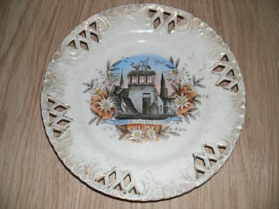 Vintage Strassburg Austria Large Victorian Ribbon Plate-antique Collection