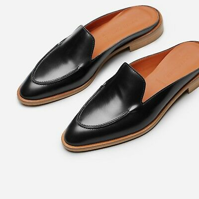 fbb863316da Everlane Italian Black Modern Loafer Mule Shoes Size 5 Retail  155 48% OFF
