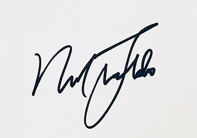 Nick Faldo HAND SIGNED White Card - Ryder Cup Champion Golf *In Person* COA