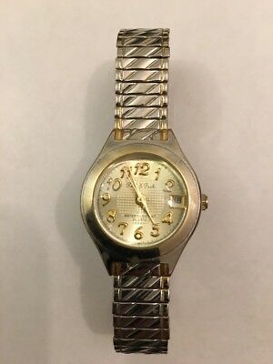 Peck & Peck Quartz Watch Stretch Band Date As Is