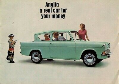Ford Anglia 105E 1965-67 UK Market Sales Brochure Saloon De Luxe Super Estate