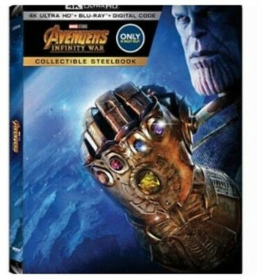 Disney Marvel Avengers Infinity Wars Movie Blu-ray 4k HD Disc Only