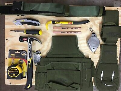 Kipper Tools Carpentry Tool Belt W Stanley Tools. 13 Items Included,