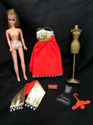 Vintage TOPPER DAWN DOLL WHITE SHOES ACCESSORY UNPLAYED WITH CONDITION