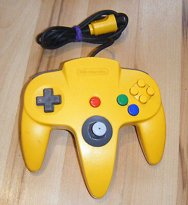 Official *YELLOW* Nintendo 64 N64 Controller