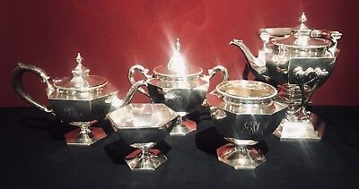SHREVE & CO ~ SHREVE CRUMP & LOW Sterling 5p Coffee Tea Service 80ozt