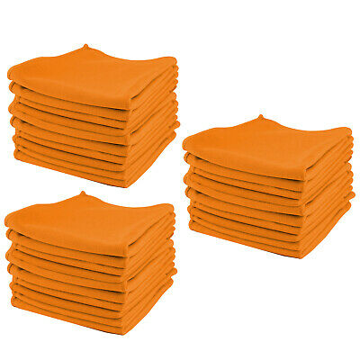 10x LARGE MICROFIBRE CLEANING CAR DETAILING SOFT CLOTHS WASH TOWEL DUSTER Orange