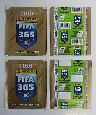 PANINI FIFA 365 2019   2 different packets edition BELGIUM   1x barcode 1x blank