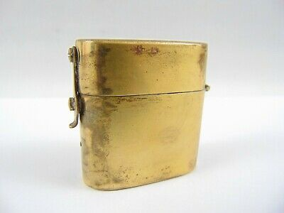 Early 20th Century Brass Travelling Inkwell - Trench Art Etc - Not Cleaned