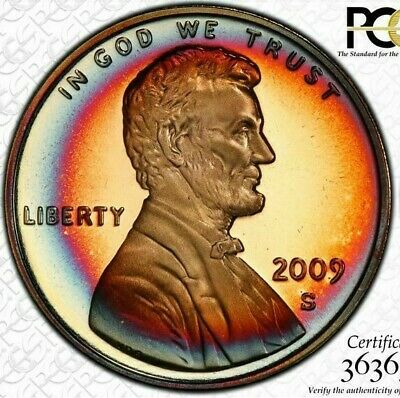 2009-S Lincoln Presidency Penny Pcgs Pr68Rb Color Toned Only 7 Graded Higher #1
