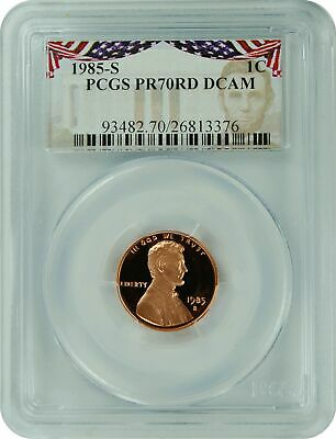 1985-S PCGS PR70RD DCAM Lincoln Cent Presidential Label